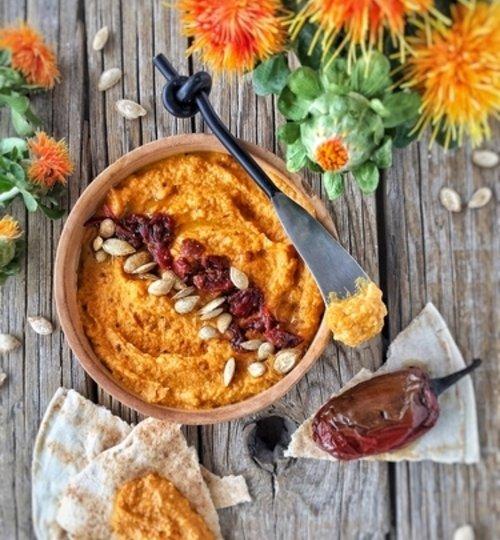 Hummus de calabaza y chipotle