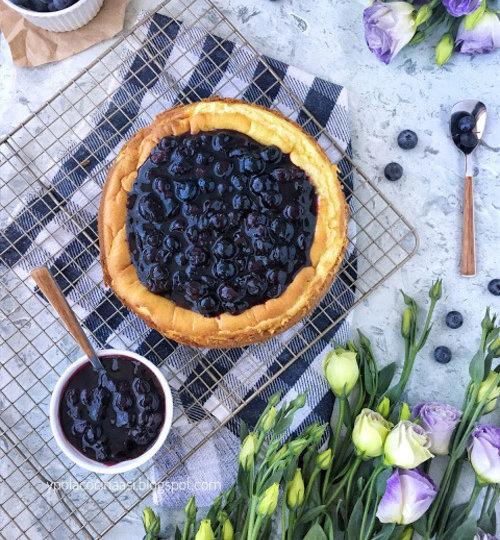receta cheesecake arándanos azules