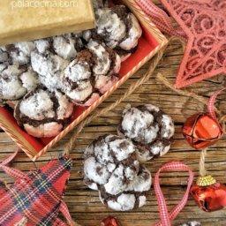 Receta de galletas cuarteadas de chocolate con azúcar glass