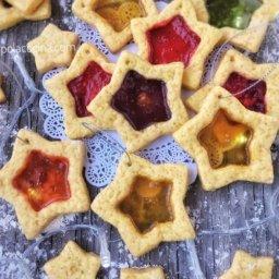 Como hacer galletas de vitral con caramelo para el arbolito navideño
