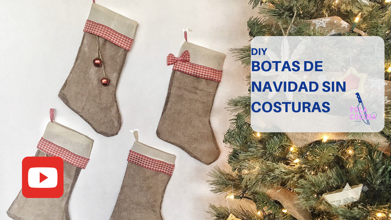 Botas navideñas DIY tutorial video