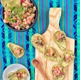 Receta de ceviche cebiche vegano de xoconostle o tuna verde