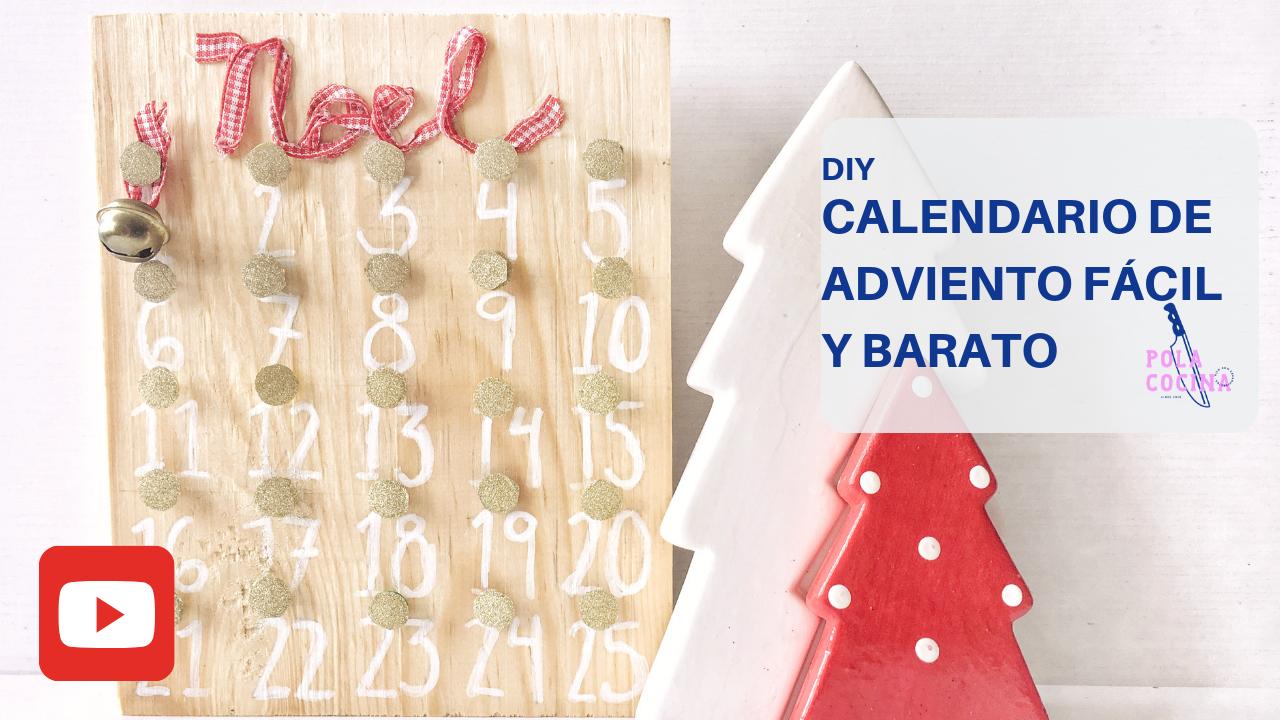 Calendario de adviento DIY tutorial video
