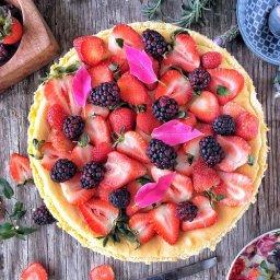Cómo preparar pay de queso con fresas