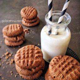 Cómo preparar galletas de mantequilla de cacahuate con cocoa