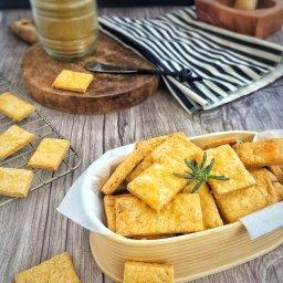 Cómo hacer galletas saladas de curry para acompañar botanas