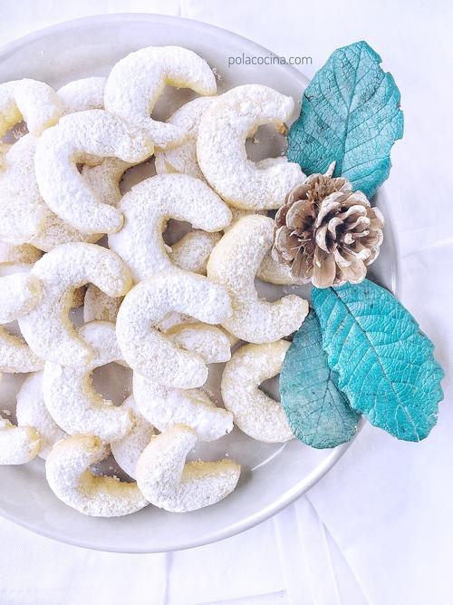 Receta de galletas lunas de adviento navideñas Vanillekipferl