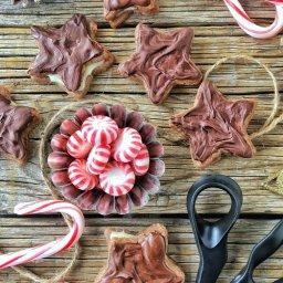 Cómo preparar galletas rellenas de chocolate con ganache de menta