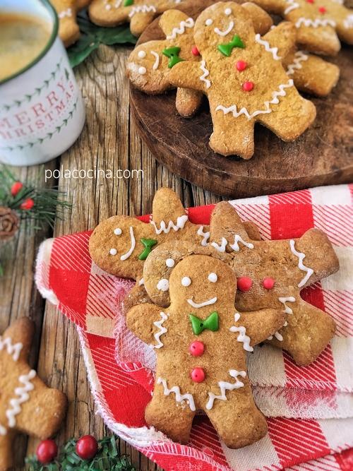 receta de galletas de jengibre navideñas