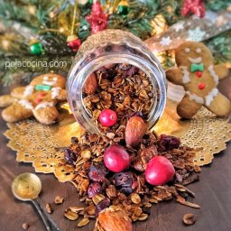 Cómo hacer granola navideña en casa
