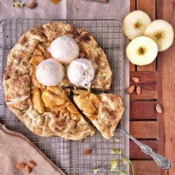 Cómo hacer tarta rústica de manzana sin molde