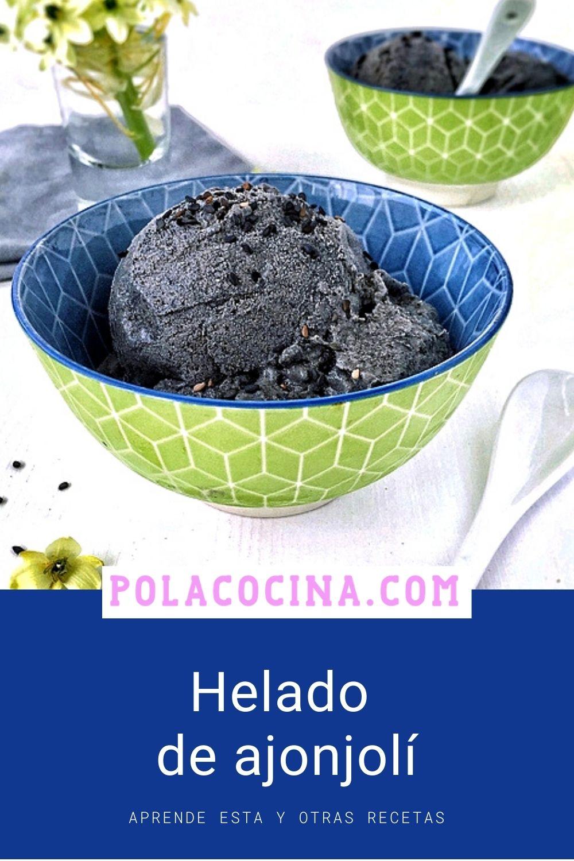 helado de ajonjolí (sésamo) negro