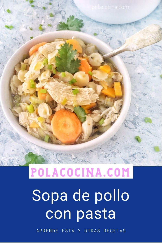 receta de sopa de pollo con pasta