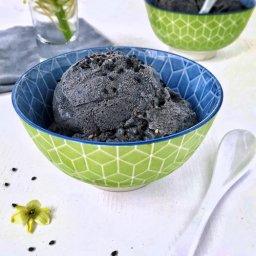 Cómo hacer helado negro