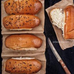 Receta de medias noches o pan para hotdog