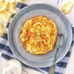 cómo hacer tortilla española fácil con papas chips
