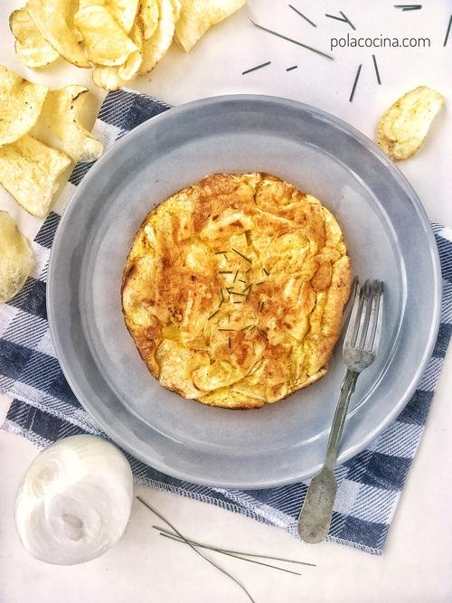 tortilla española con papas fritas