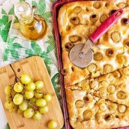 fougasse aux raisins, receta de focaccia con salmuera