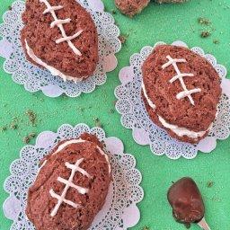 Cómo hacer pasteles de chocolate y menta para el Super Bowl