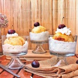 cómo se hace el helado con tempura