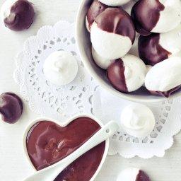 Receta de merengues con chocolate para San Valentín y Día de las Madres