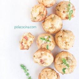 Cómo hacer muffins salados con verduras