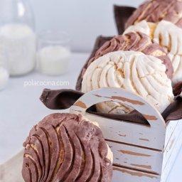 Receta de conchas de pan de vainilla y chocolate
