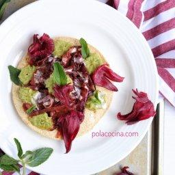 Cómo hacer tinga vegana vegetariana de flor de jamaica recetas de Cuaresma