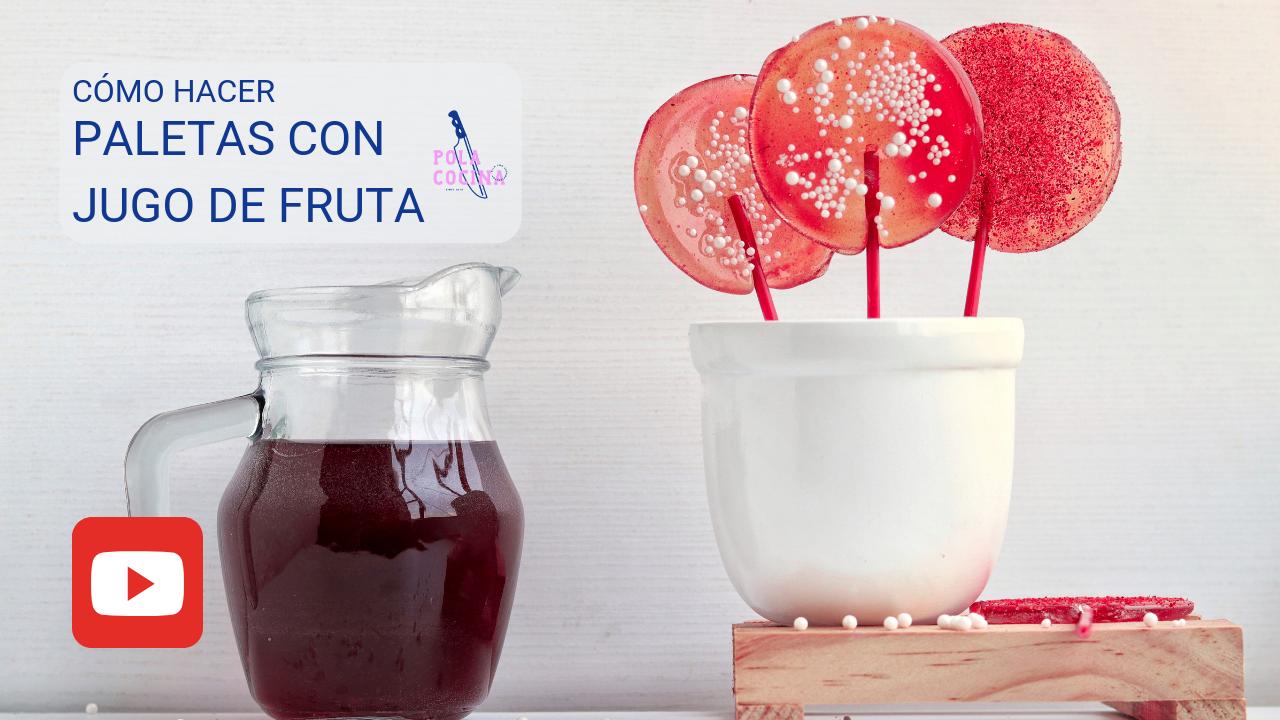 paletas de caramelo con frutas