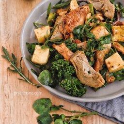 Cómo hacer una ensalada fría de pollo fácil