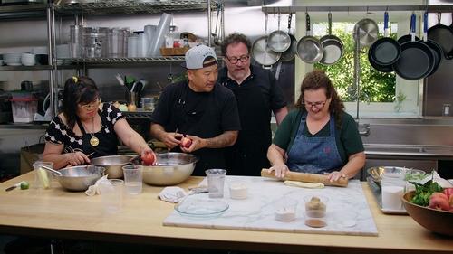 el pastel de lava de chocolate de The Chef Show