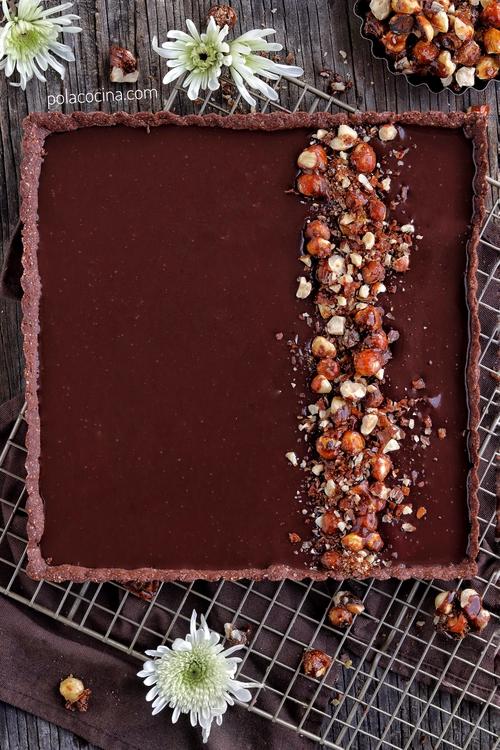 Tarta de ganache de chocolate pay