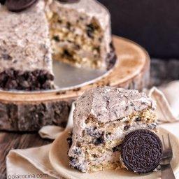 Receta de pastel de Oreos con buttercream de Oreos y chocolate