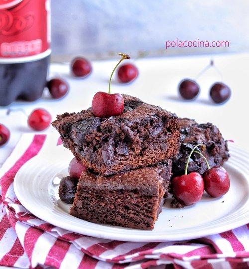 brownies de dr pepper y cerezas