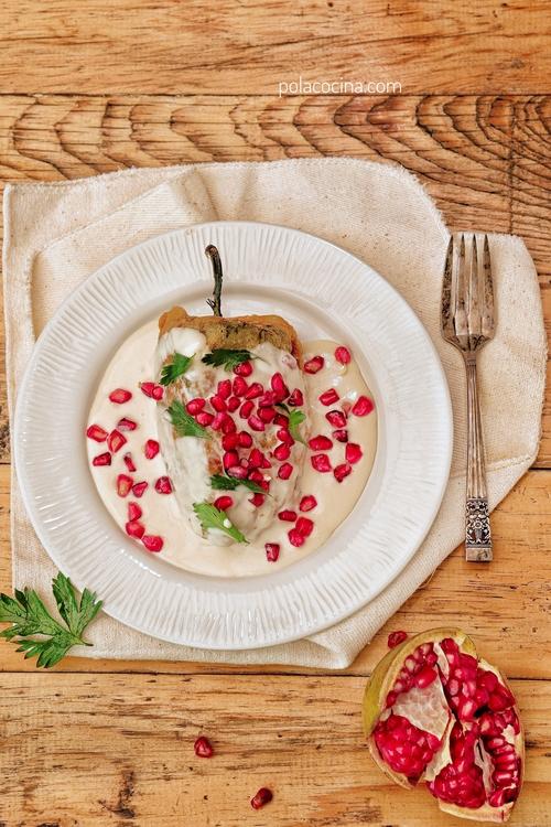 Receta de chiles en nogada tradicionales