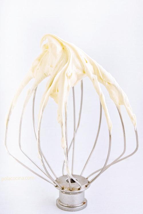 Buttercream de chocolate blanco receta