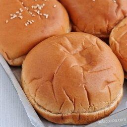 Cómo hacer pan para hamburguesa o bollos