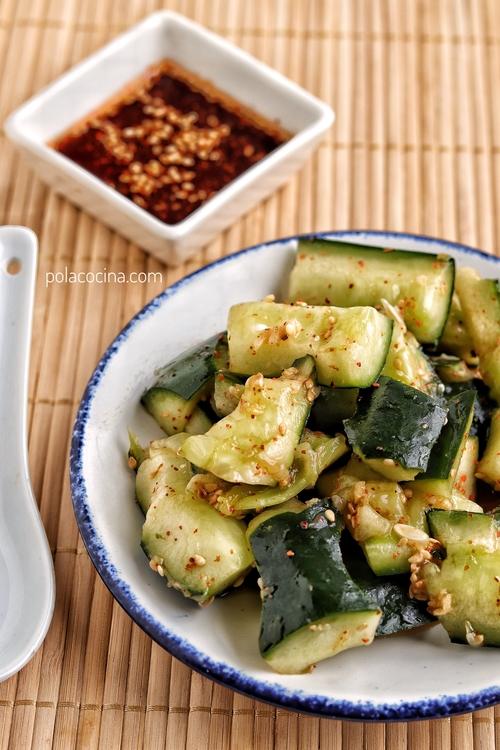 Ensalada china de pepinos