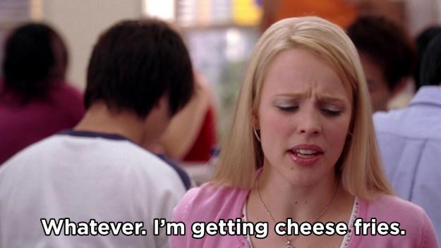 Las cheese fries de mean girls