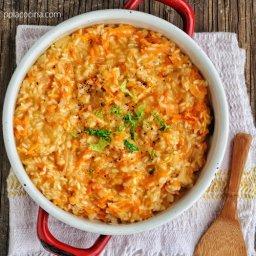 Cómo se prepara el risotto de zanahorias