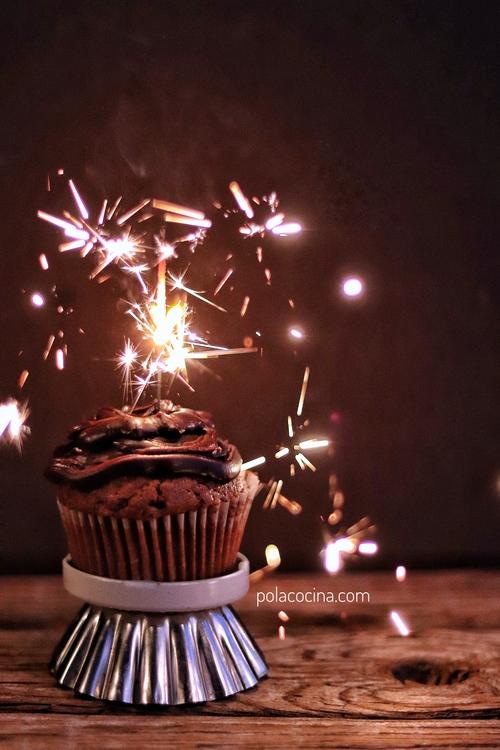 cupcakes de chocolate fáciles