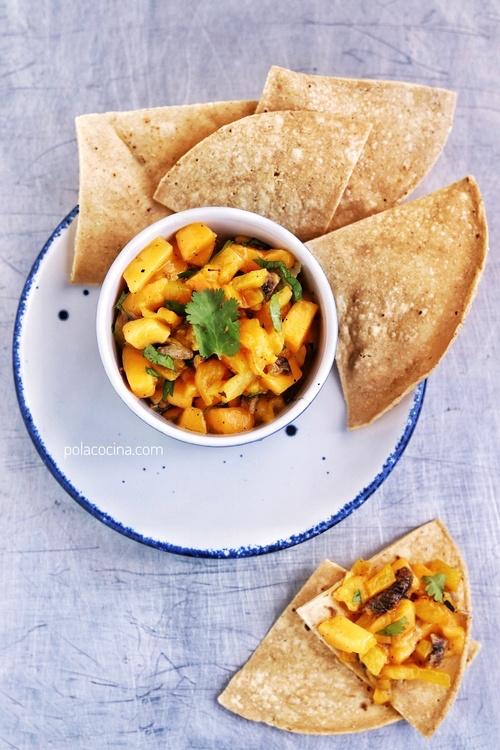 Ceviche de mango y pimientos