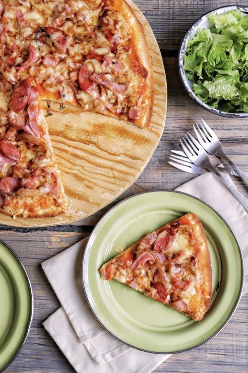 Masa para pizza delgada