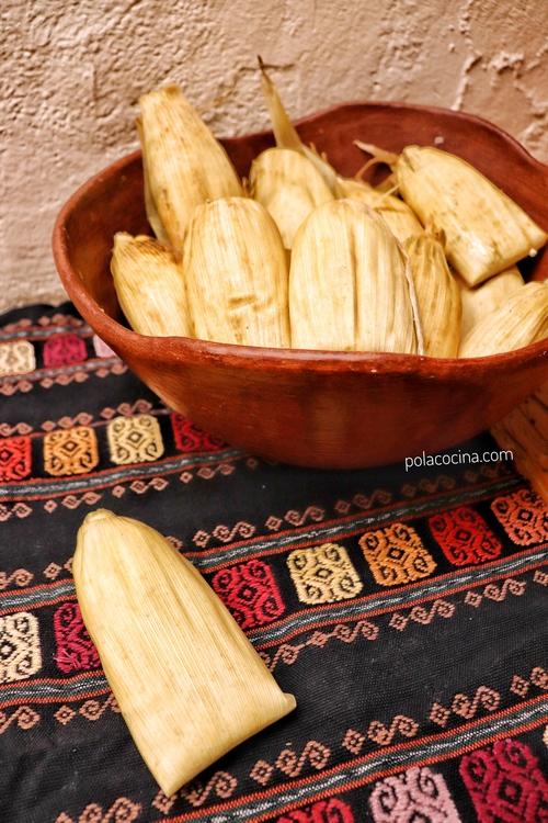 Tamales verdes de hoja de maíz