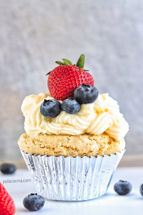 Cupcakes veganos de vainilla
