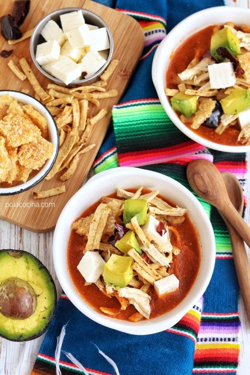 Cómo hacer sopa de tortilla