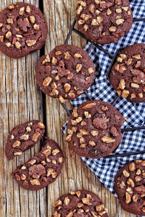 Galletas tipo brownie de chocolate y nuez