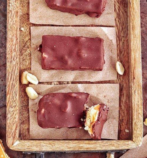 Snickers caseros receta