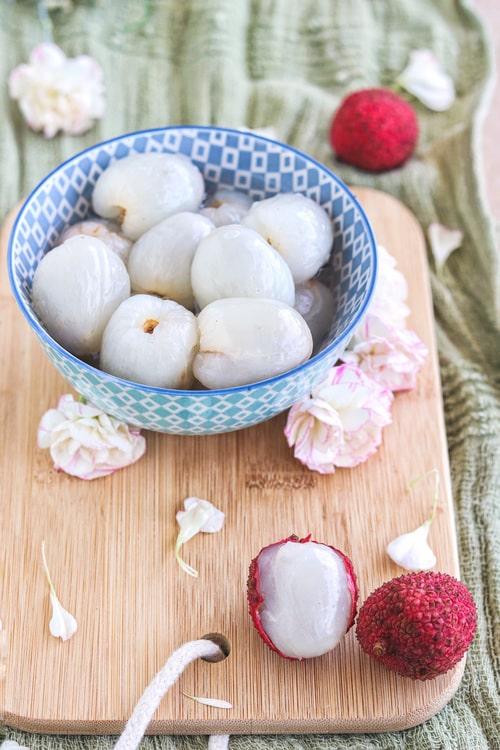 receta de lichis en almíbar
