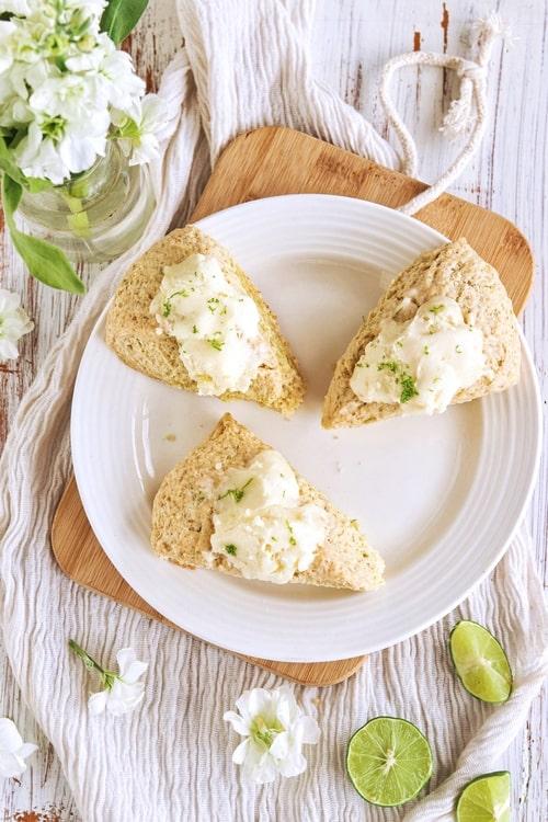 receta de scones de limón